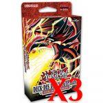 Decks de Structure Yu-Gi-Oh! Deck Des Dieux Egyptiens - Slifer le Dragon Céleste - Lot de 3