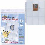 Classeur / Feuilles Pokémon Lot De 10 Feuilles De Classeur - 9 Cases - Pokémon
