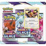 Coffret Pokémon Tripack 3 Boosters - EB06 - Épée et Bouclier 6 Règne de Glace - Evoli