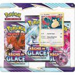 Coffret Pokémon Tripack 3 Boosters - EB06 - Épée et Bouclier 6 Règne de Glace - Ronflex