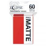 Protèges Cartes Format JAP  Sleeves Ultra-pro Mini Par 60 Eclipse Pro Matte Rouge Pomme (Apple Red)
