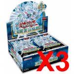 Boite de Boosters Français Yu-Gi-Oh! 24 Boosters - L'Aube de la Majesté - Lot de 3