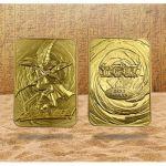 Album Collector Yu-Gi-Oh! Carte Métal en Or Plaqué 24K - Magicien des Ténèbres