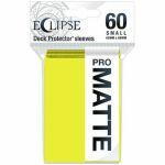 Protèges Cartes Format JAP  Sleeves Ultra-pro Mini Par 60 Eclipse Pro Matte Jaune (Lemon Yellow)
