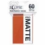 Protèges Cartes Format JAP  Sleeves Ultra-pro Mini Par 60 Eclipse Pro Matte Orange (Pumpkin Orange)