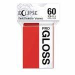 Protèges Cartes Format JAP  Sleeves Ultra-pro Mini Par 60 Eclipse Pro Gloss Rouge ( Apple Red)