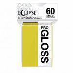 Protèges Cartes Format JAP  Sleeves Ultra-pro Mini Par 60 Eclipse Pro Gloss Jaune (Lemon Yellow)