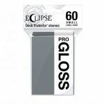Protèges Cartes Format JAP  Sleeves Ultra-pro Mini Par 60 Eclipse Pro Gloss Gris (Smoke Grey)