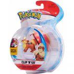 Figurine Pokémon Clip'N'Go Caninos + Bis Ball