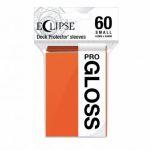 Protèges Cartes Format JAP  Sleeves Ultra-pro Mini Par 60 Eclipse Pro Gloss orange (pumpkin)