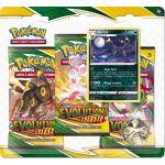 Coffret Pokémon Tripack 3 Boosters - EB07 - Épée et Bouclier 7 Évolution Céleste - Noctali