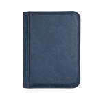 Portfolio  UltraPro - Premium Pro-binder ZIPPERED SUEDE - Saphir - 160 Cases (20 Pages De 8)