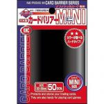 Protèges Cartes Format JAP  Kmc - Mini Black (Noir & Lisse par 50)