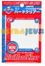 Protèges Cartes Format JAP  Kmc - Mini Hard Clear ( Transparentes Rigides ) - par 50