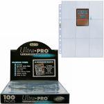 Feuilles de classeur Accessoires Lot De 100 Feuilles De 9 Cartes - Platinum Series