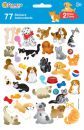 """Autocollants Accessoires Planche De 75 Stickers """"chiens Et Chats"""""""