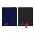 Portfolios  Pro-binder - Bleu & Noir - 20 Pages De 8 Cases