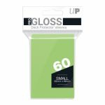 Protèges Cartes Format JAP  Sleeves Ultra-pro Mini Par 60 Vert Citron (Lime Green)