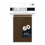 Protèges Cartes Format JAP  Sleeves Ultra-pro Mini Par 60 Marron