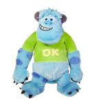 Peluche Monsters University Monstres et Cie Jacques Sullivan Avec T-shirt - 20 Cm