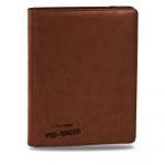 Portfolios Accessoires Premium Pro-binder - Simili Cuir Marron - 20 Pages De 18 Cases