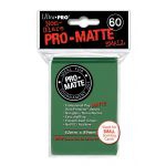 Protèges Cartes Format JAP Accessoires Sleeves Ultra-pro Mini Par 60 Vert Foncé Matte