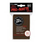 Protèges Cartes Format JAP  Sleeves Ultra-pro Mini Par 60 Marron Matte