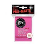 Protèges Cartes Format JAP Accessoires Sleeves Ultra-pro Mini Par 60 Rose Bonbon Matte
