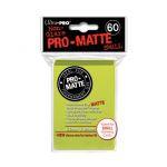 Protèges Cartes Format JAP Accessoires Sleeves Ultra-pro Mini Par 60 Vert Pistache Matte
