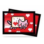Prot�ges Cartes Format JAP Accessoires Sleeves Ultra-pro Mini Par 60 - Nyan Cat Valentnyan