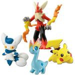 Figurine Pok�mon Pokemon X Et Y - M�ga Bras�gali, Mistigrix (femelle), Pikachu Et Amagara