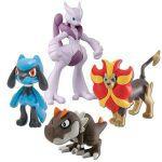Figurine Pok�mon Pokemon X Et Y - M�ga Mewtwo X, N�m�lios (M�le), Ptyranidur Et Riolu
