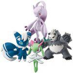 Figurine Pok�mon Pokemon X Et Y - M�ga Mewtwo Y, Mistigrix (M�le), Pandarbare et Kirlia