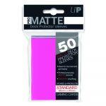 Protèges Cartes Accessoires Sleeves Ultra-pro Standard Par 50 Rose Bonbon Matte