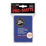 Protèges Cartes Accessoires Sleeves Ultra-pro Standard Par 50 Bleu Foncé Matte