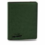 Portfolios Accessoires Premium Pro-binder - Simili Cuir Vert Foncé - 20 Pages De 18 Cases