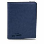 Portfolios Accessoires Premium Pro-binder - Simili Cuir Bleu Foncé - 20 Pages De 18 Cases
