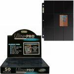 Feuilles de classeur Accessoires Lot De 50 Feuilles De Classeur Noir Ultrapro Side Load (2x9 Cases)