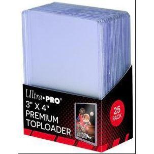 "Protèges Cartes Toploader Transparent Super Clear Premium 3""x4"" Par 25"