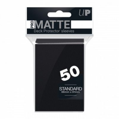Protèges Cartes Sleeves Ultra-pro Standard Par 50 Noir Matte
