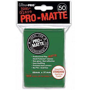 Protèges Cartes Sleeves Ultra-pro Standard Par 50 Vert Foncé Matte