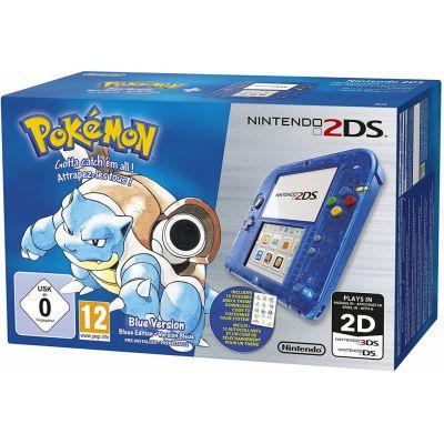 Produits Spéciaux Nintendo 2ds Bleue Transparent + Pokémon Bleue Préinstallé
