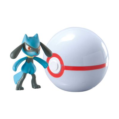 Figurine Clip'n Carry Poké Ball  - Riolu + Honnor Ball