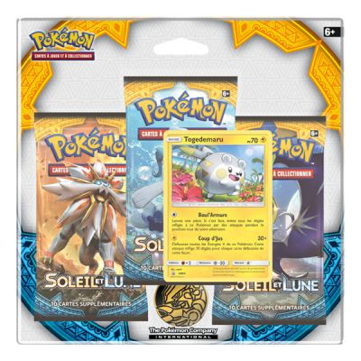 Boosters Français Pack 3 Boosters - Soleil Et Lune - Togedemaru