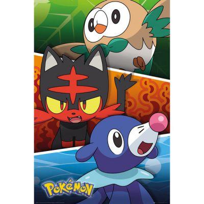 Accessoires Pokémon Poster Pokemon Soleil Et Lune (sun And Moon) Partenaires Alola