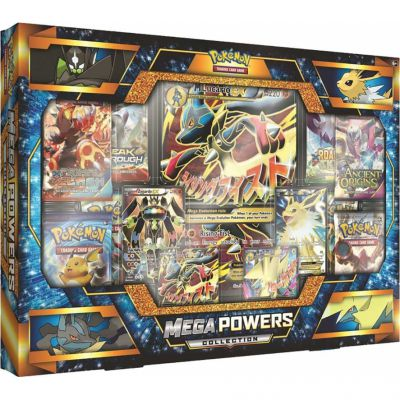 Coffret Mega Powers Collection Mega Lucario, Mega Elecsprint, Voltali & Zygarde En Anglais