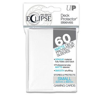 Protèges Cartes Format JAP Sleeves Ultra-pro Mini Par 60 Eclipse Matte Blanc