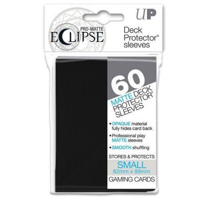 Protèges Cartes Format JAP Sleeves Ultra-pro Mini Par 60 Eclipse Matte Noir