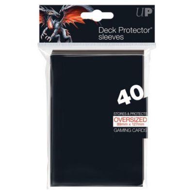 Protèges Cartes Sleeves Ultra-pro Oversized (89x127) Par 40 Noir