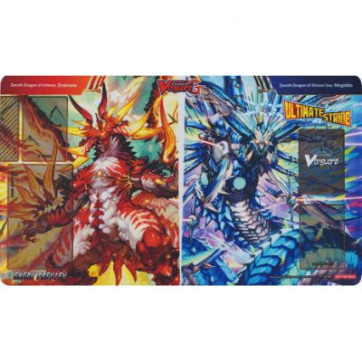 Tapis de Jeu Zeroth Dragon of Inferno, Drachma et Zeroth Dragon of Distant Sea, Megiddo